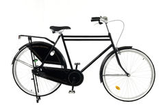 Retro style bicycle isolated on a white Stock Images