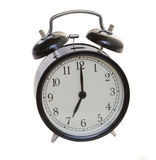 Retro  style black  alarm clock Stock Photography
