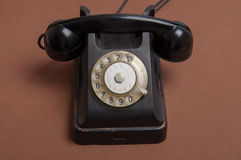 Retro style black russian dial telephone Royalty Free Stock Photography
