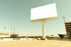 Retro style of blank billboard for advertisement Royalty Free Stock Images