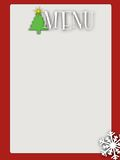 Retro style blank christmas menu Royalty Free Stock Photo