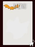 Retro style blank haloween menu. A retro style blank menu Stock Photo