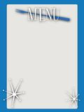 Retro style blank menu Royalty Free Stock Photography
