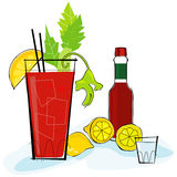 Retro-style Bloody Mary Royalty Free Stock Photos