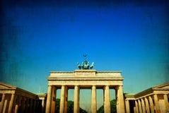 Retro style Brandenburg Gate Stock Image