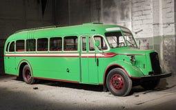 Retro style bus. Toned. Royalty Free Stock Photography