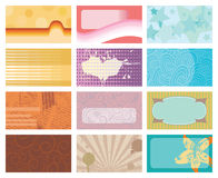 Retro style business Cards set. Each in separated layer, without gradients stock illustration