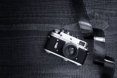 Retro style camera Stock Photos