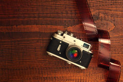 Retro style camera Royalty Free Stock Image