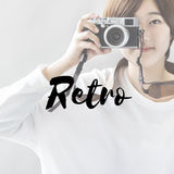 Retro Style Camera Photographer Concept Royalty Free Stock Images