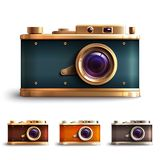 Retro Style Camera Set Stock Photography