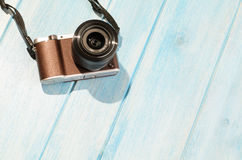 Retro style camera Stock Photography