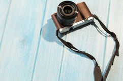 Retro style camera Stock Photography