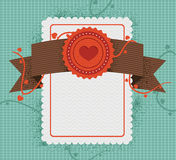Retro style card. Set of retro design elements - vector labels, ribbons, buttons Stock Photography