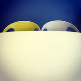 Retro style chairs and table Royalty Free Stock Image
