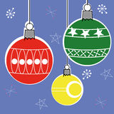 Retro Style Christmas Decorations Royalty Free Stock Photos