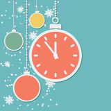 Retro style Christmas and New Year vector background Royalty Free Stock Images