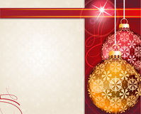Retro style Christmas ornaments Royalty Free Stock Photography