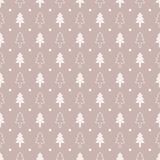 Retro style christmas trees pattern Stock Photos