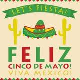 Retro style Cinco De Mayo 5th of May card. Retro style Cinco De Mayo (5th of May) card in vector format Stock Images