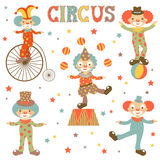 Retro style clowns collection Stock Images