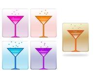 Retro style cocktail set Stock Photos