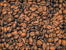 Retro style coffee beans texture stock photo