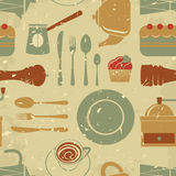 Retro style coffee pattern Stock Photos