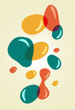Retro style colors bubbles Royalty Free Stock Photo