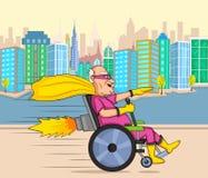 Retro style comics Superhero old man Stock Images