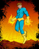 Retro style comics Superhero Royalty Free Stock Photos