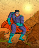 Retro style comics Superhero Stock Photos