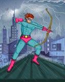 Retro style comics Superhero Royalty Free Stock Photography
