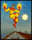 Retro style comics Superhero Stock Photography