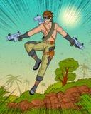 Retro style comics Superhero Stock Images