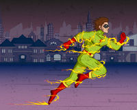 Retro style comics Superhero Royalty Free Stock Photo
