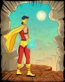Retro style comics Superhero Stock Image