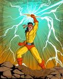 Retro style comics Superhero Stock Photo