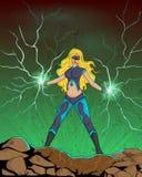 Retro style comics Superwoman Stock Photos