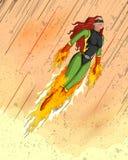 Retro style comics Superwoman Royalty Free Stock Photo