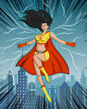 Retro style comics Superwoman Stock Photo