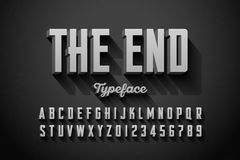 Retro style condensed font Royalty Free Stock Photography