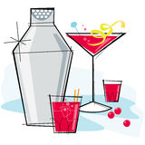Retro-style Cosmopolitan vector illustration