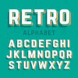 Retro style 3d alphabet. Illustration Royalty Free Stock Image