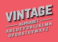 Retro style 3d alphabet. Illustration Royalty Free Stock Photography
