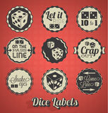 Dice Games Labels Royalty Free Stock Photos