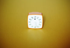 Retro style disc kitchen timer Royalty Free Stock Images