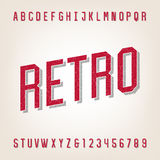 Retro style distressed alphabet vector font. stock illustration