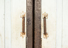 Retro style door holders Stock Photo