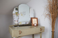 Retro Style Dressing Table In Stylish Apartment Stock Image